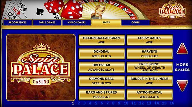 Spin Palace $1000 de Bono